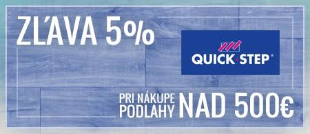 ZĽAVA 5% pri nákupe podlahy nad 500€